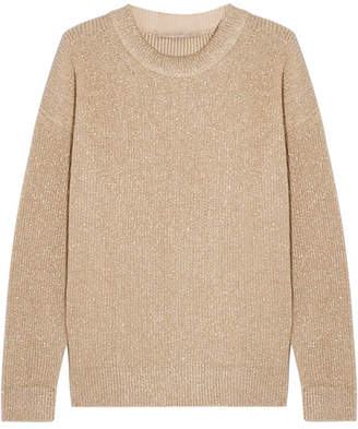 Vanessa Bruno - Hodaya Metallic Ribbed-knit Sweater - Gold
