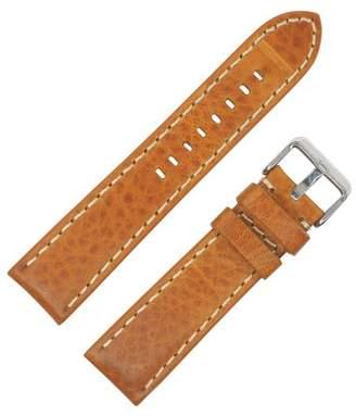 Dakota 20mm Thick Padded Oil Tanned Shrunken Leather Tan