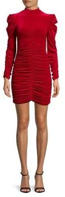 Miss Selfridge Ruched Highneck Mini Dress