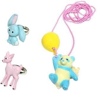 Pop Cutie Panda & Friends Rings & Necklace Set