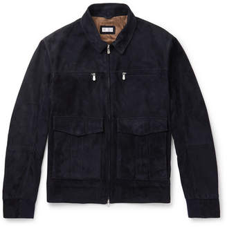Brunello Cucinelli Suede Jacket - Men - Navy