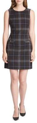 Tommy Hilfiger Plaid Sleeveless Shift Dress