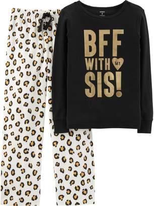 Carter's Girls 4-14 Top & Microfleece Bottoms Pajama Set