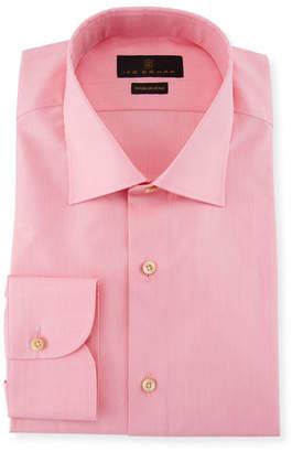 Ike Behar Solid Cotton Barrel-Cuff Dress Shirt