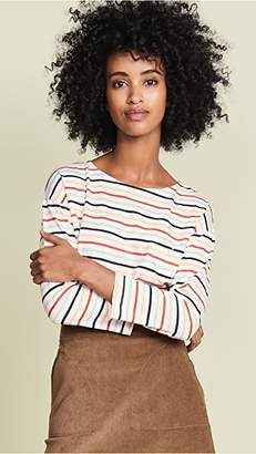 Chinti and Parker 3/4 Sleeve Heart Pocket Tee