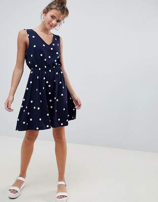 Only Michelle Polka Dot Skater Dress
