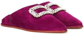 Roger Vivier Bab' Viv suede slippers