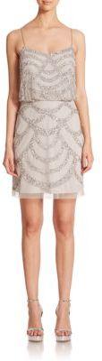 Aidan Mattox Sequined Blouson Bridesmaid Dress $295 thestylecure.com