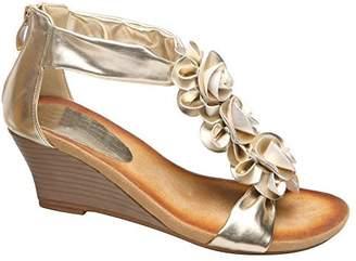 Patrizia Women's Patrizia, Harlequin Sandal GOLD MULTI 3.8 M