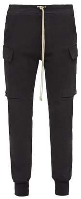 Rick Owens Babel Cotton Cargo Track Pants - Mens - Black