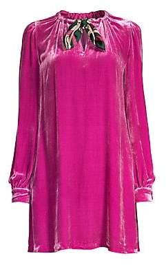Diane von Furstenberg Women's Velvet Mini Dress