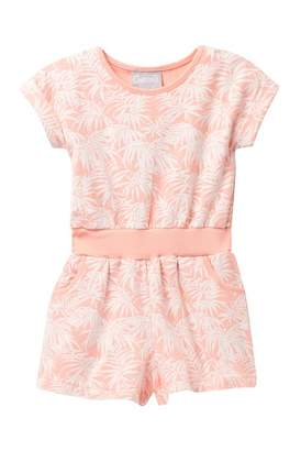 Coccoli Palm Print Romper (Baby Girls)