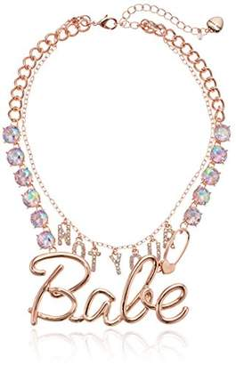 """Betsey Johnson Women's """"Not Your Babe"""" Frontal Necklace"""
