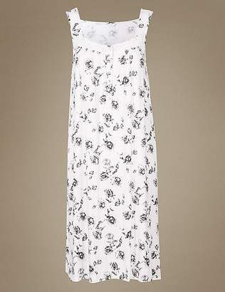 Marks and Spencer Floral Print Jersey Nightdress