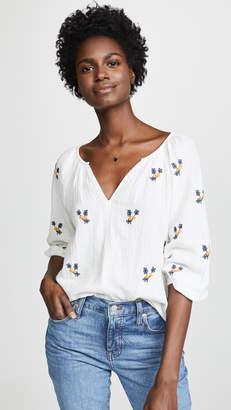 Velvet Selma Embroidered Blouse
