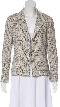 Chanel Fringe-Trimmed Tweed Blazer