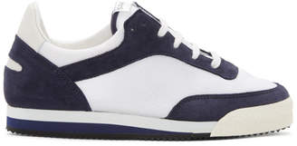 Comme des Garcons Navy and White Pitch Low Sneakers