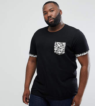 Brave Soul PLUS Palm Tree Pocket T-Shirt
