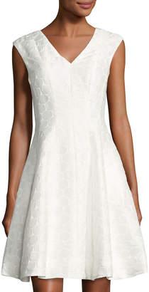 Julia Jordan V-Neck Circle-Print Dress $107 thestylecure.com