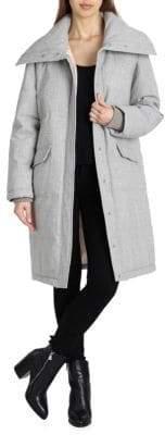 AVEC LES FILLES Plaid Puffer Coat