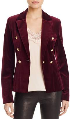 AQUA x Maddie & Tae Velvet Gold Button Blazer - 100% Bloomingdale's Exclusive $148 thestylecure.com