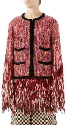Gucci Sequin Tweed Jacket