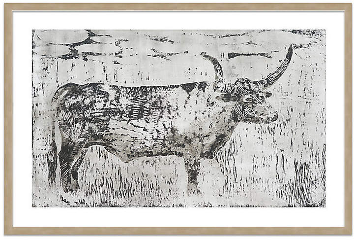 Cow Etching - Mary H. Case - 27.5