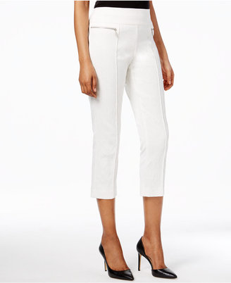 Style & Co Pull-On Jacquard Capri Pants, Only at Macy's $49.50 thestylecure.com