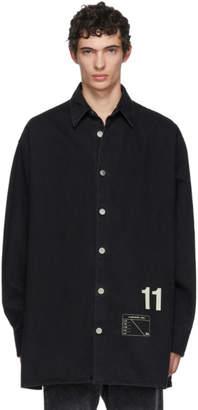 Raf Simons Black Denim Easy Fit Shirt