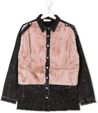 Andorine TEEN embelished denim shirt