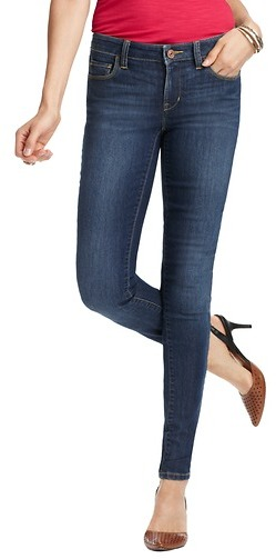 LOFT Curvy Super Skinny Jeans in Storm Blue Wash