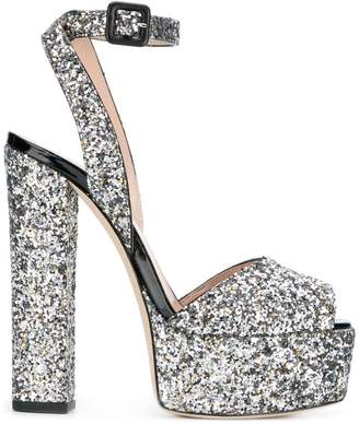 Giuseppe Zanotti Design platform glitter sandals