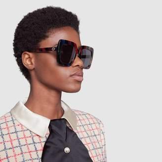 Gucci Square-frame glitter acetate sunglasses