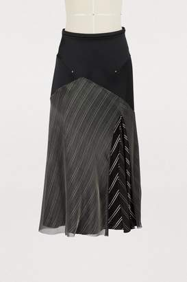 Esteban Cortazar Circle satin skirt