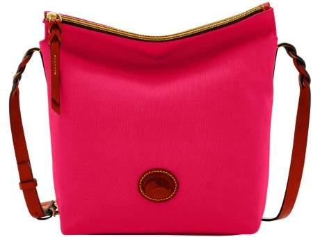 Dooney & Bourke Nylon Hobo Crossbody Shoulder Bag - PINK - STYLE