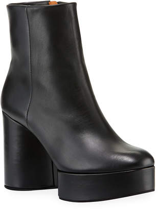 Clergerie Belent Leather Platform Booties