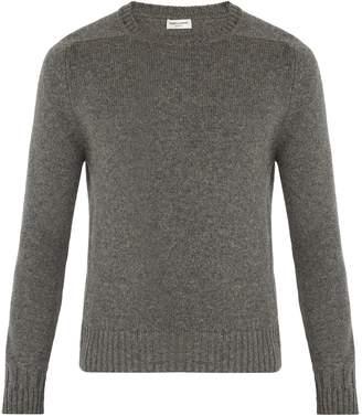 Saint Laurent Crew-neck camel-wool sweater