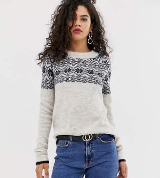 Vero Moda Tall Patterned Round Neck Sweater