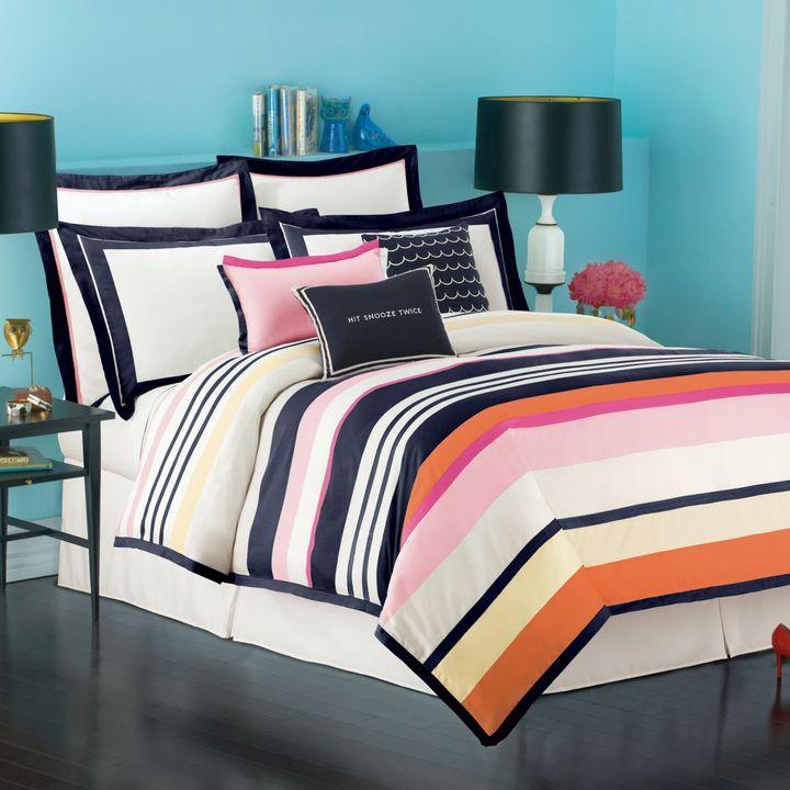 Kate Spade Candy Shop Stripe Duvet Cover