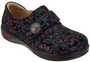 Alegria Leather Hook and Loop Slip-on Shoes -Joleen