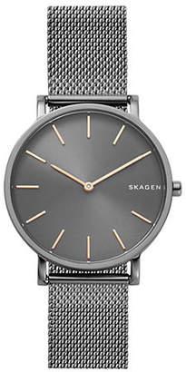Skagen Hald Hagen Slim Gunmetal Stainless Steel Mesh Watch