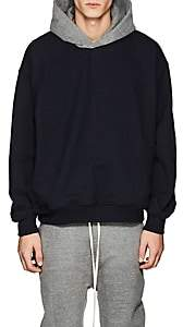 Fear Of God Men's Colorblocked Cotton Oversized Hoodie-Navy