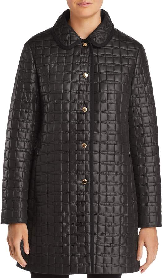 Bow-Quilted Coat