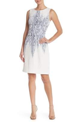 Chetta B Sleeveless Puff Print Dress
