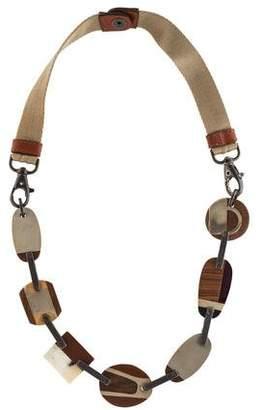 Marni Wood & Horn Collar Necklace