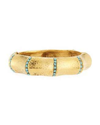Jose & Maria Barrera Turquoise-Studded Bangle Bracelet