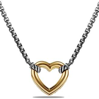 David Yurman 'Cable Collectibles' Heart Station Necklace with 18K Gold