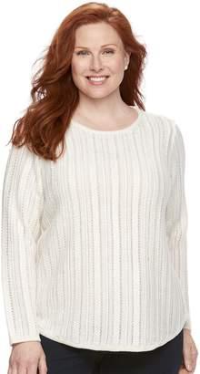 Croft & Barrow Plus Size Lurex Sweater