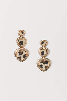 H&M Leopard-print Earrings - Gold