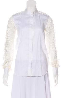 Celine Embroidered Button-Up Top